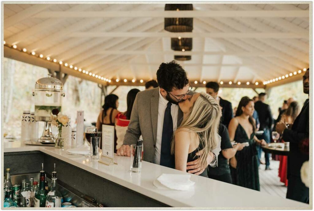 Bar services at a Roxbury Barn and Estate wedding in the Catskills