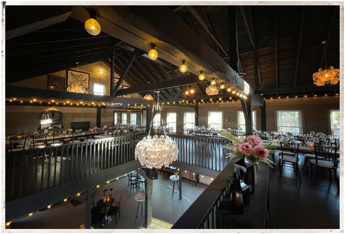 Upper level of the carriage barn