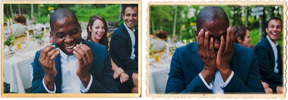 Outdoor wedding dinner on the courtyard at Roxbury Barn and Estate