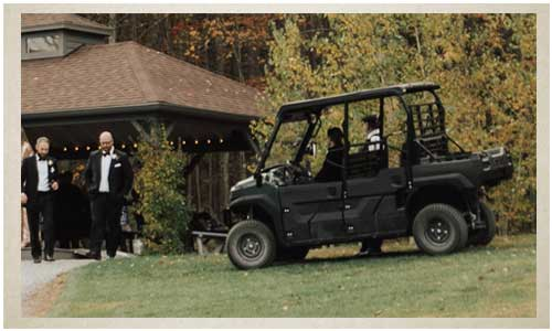 Carts with drivers at your wedding