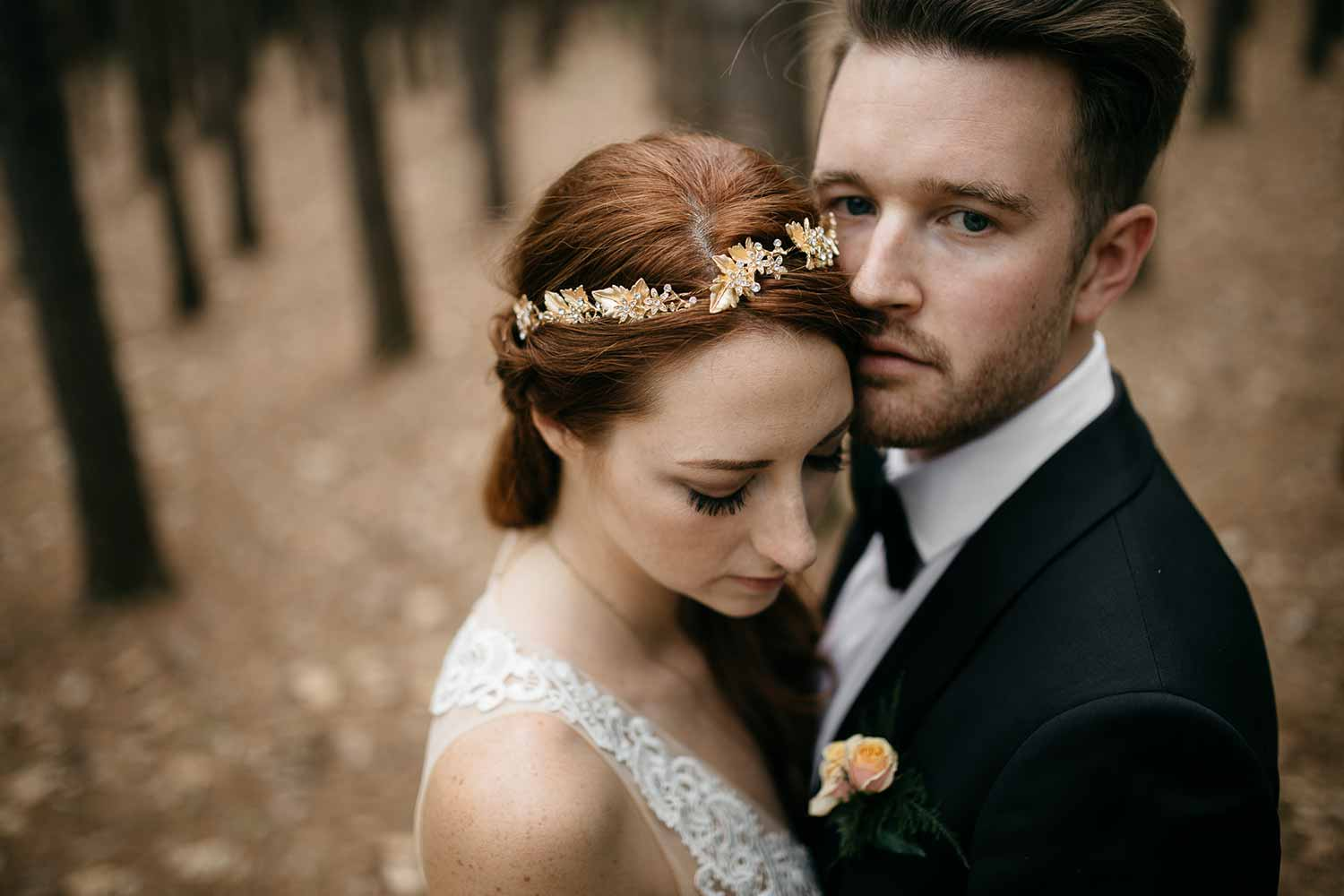 Couple in the pine grove