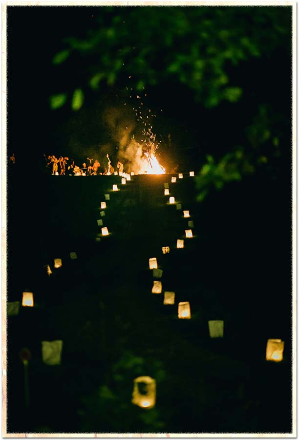 path of luminarias on Spring Hill
