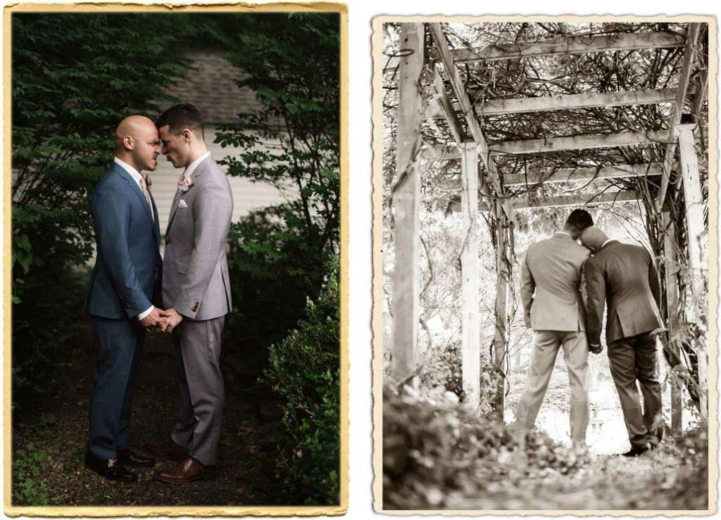 Gay wedding at Roxbury Barn and Estate