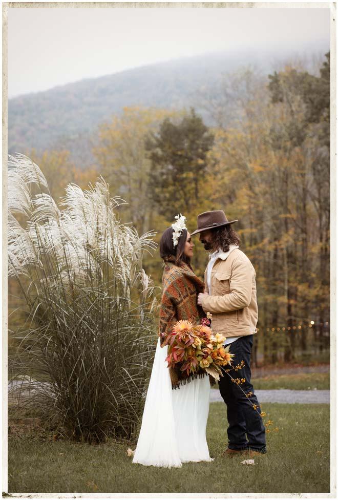 Fall foliage at a Catskills wedding