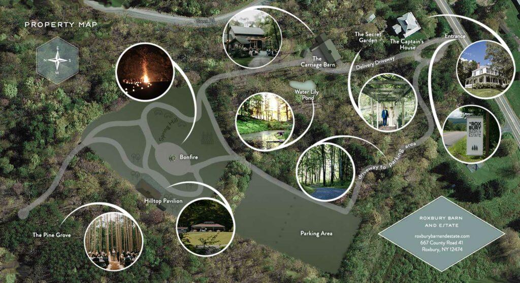 Property Map of Roxbury Barn and Estate