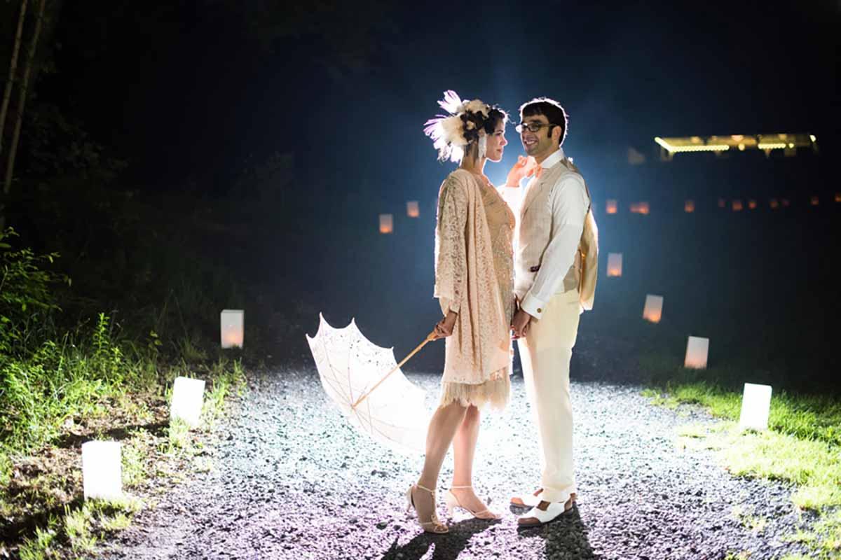 Woodland Catskill Wedding with Vintage Speakeasy Details