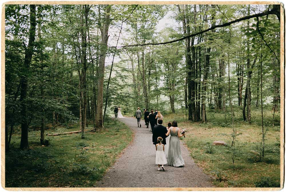 Leving the forest wedding ceremony