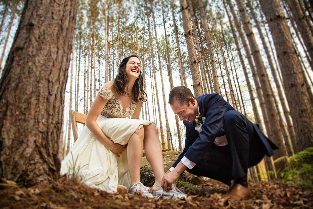 Magical forest wedding in Roxbury, NY