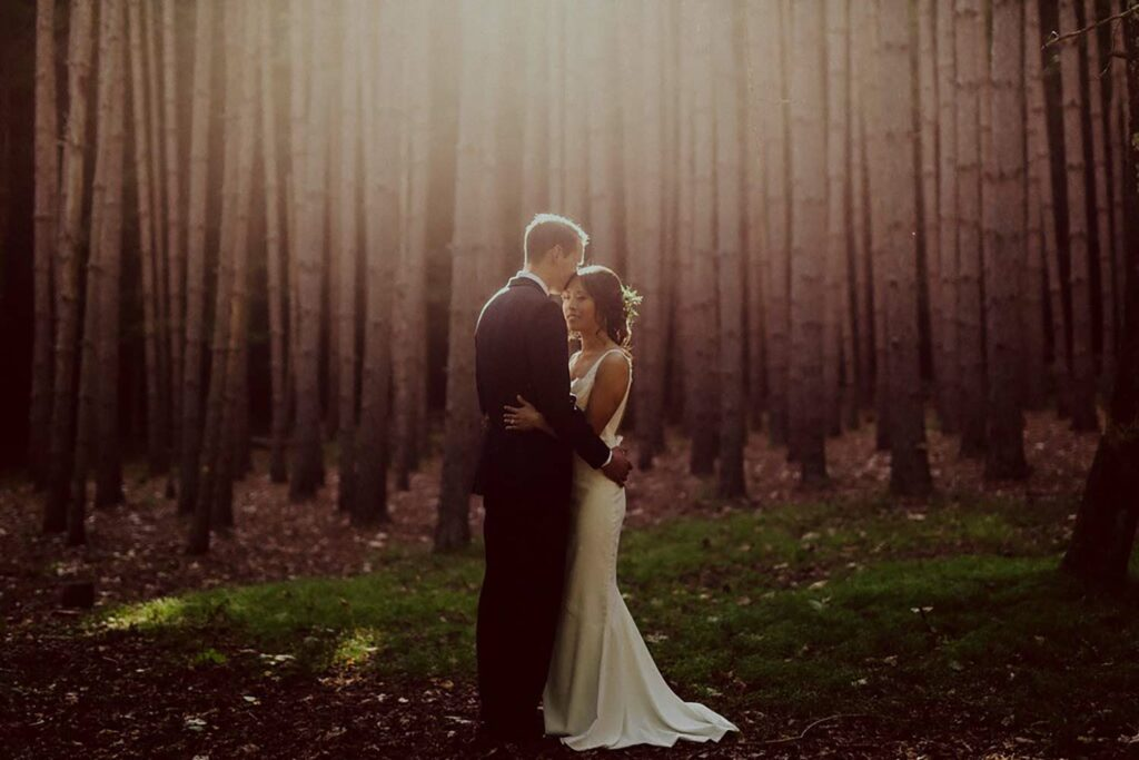 wedding in an enchanted forest in the Catskills
