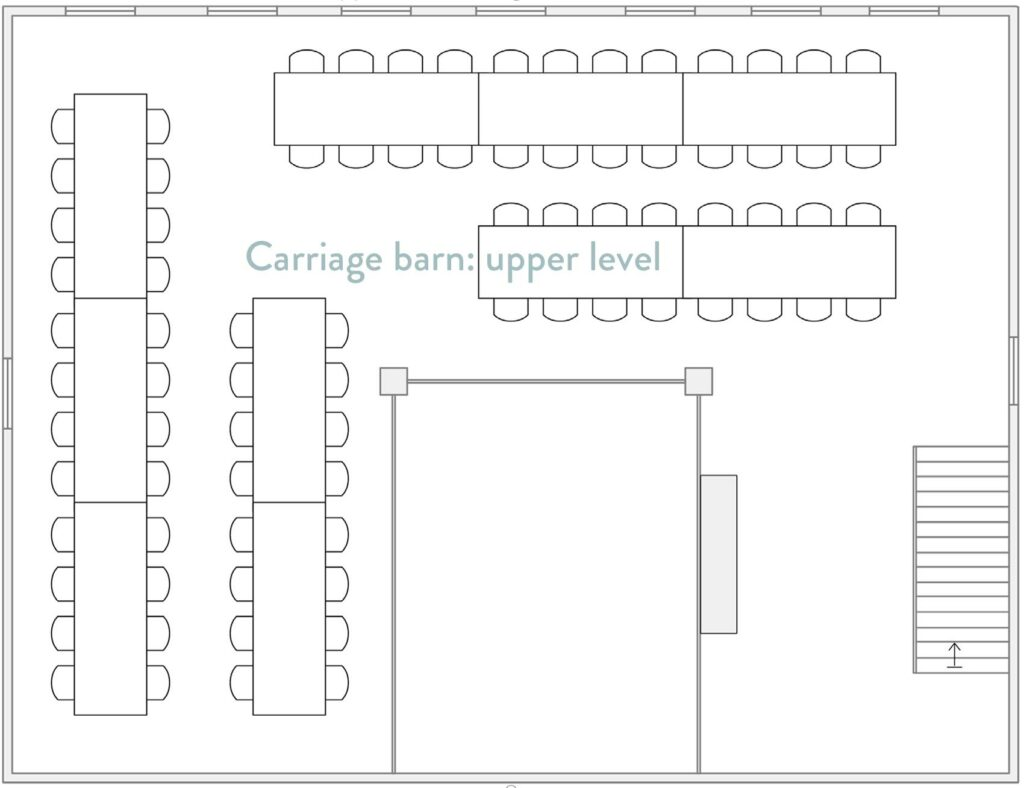 Upper level of the carriage barn at Roxbury Barn and Estate